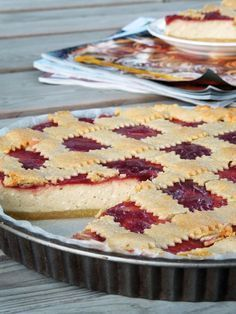 Live to Bake: Tvarohový mriežkový koláč Sweet Desserts, Sweet Recipes, Dessert Recipes, Baking Cupcakes, Cupcake Cakes, Czech Recipes, Dessert Bars, Other Recipes, No Bake Cake