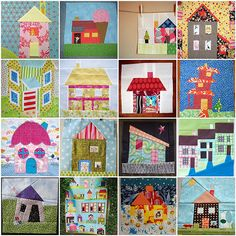 House Quilt Blocks - Wanna swap or Bee or something!? | par TheParfaitCafe