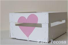 Caja de fruta reciclada con chalk paint | Pica Pecosa