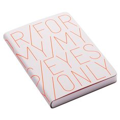 "Nuuna ""For My Eyes Only"" Leather Notebook - Neon Orange - Large ($39) ❤ liked on Polyvore featuring home, home decor, stationery, fillers, books, accessories, decoration and orange"