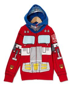 Look at this Red Optimus Prime Zip-Up Hoodie - Toddler & Boys on #zulily today!