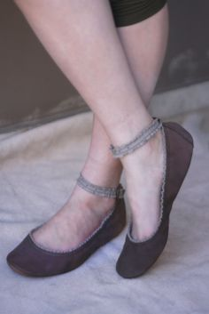 Intimate  Handmade Leather ballet flat shoes by TheDrifterLeather, $100.00