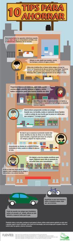 Infografía: '10 Tips para ahorrar'.