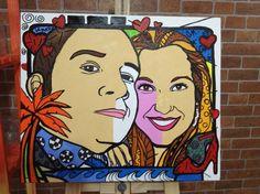 Pintura pra casamento momentos art Gil Motta