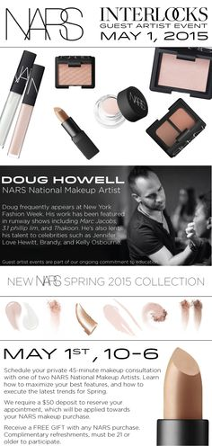 NARS makeup event at INTERLOCKS | May 2015