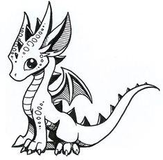 How to draw cute dragons creature sketches dragon artwork, c Simple Dragon Drawing, Cool Dragon Drawings, Cute Dragon Drawing, Dragon Sketch, Dragon Artwork, Little Dragon, Baby Dragon, Dragon Ball, Fantasy Kunst
