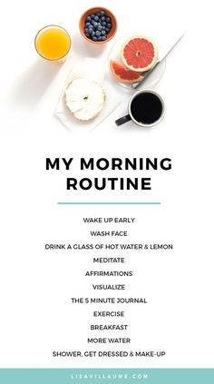 Creating a morning routine isn't just for toddlers and young kids. It's important for women, too! It can have a massive impact on your day and your overall wellness. Try something like this morning routine to help get you on the train to total health. Good Habits, Healthy Habits, Healthy Meals, Healthy Lifestyle Tips, Healthy Mind, Stay Healthy, Health Tips, Health And Wellness, Health Fitness