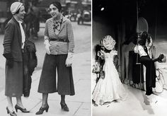 """""""Of course we don't want pants!"""" —French designer Elsa Schiaparelli, when asked on this day in 1933 if women were ready to adopt the new-fangled pants look. Schiaparelli was meeting with the New York Fashion Group, and conceded that—other than pants—women were ready for radical new and striking effects. She also advised that cotton had its place but never in the ballroom and that while sleeves should not be worn full at the elbow, ballooning at the wrist or the shoulder was OK. Shortly after…"""