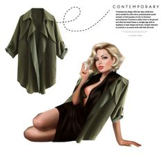"""oversized coat"" by atlanta-j ❤ liked on Polyvore"