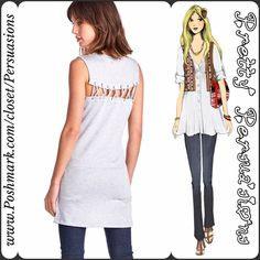 NWT Heather Gray Lace Up Back Tunic Mini Dress Description coming soon. Available in sizes S, M, L Pretty Persuasions Dresses Mini