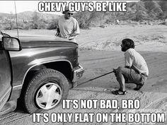 Ha! Chevy Memes, Ford Jokes, Truck Memes, Car Memes, Car Humor, Chevy Vs Ford, Ford Girl, Guys Be Like, Classic Trucks