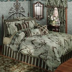 mint green andbrown comforters  | Croscill Royalton Comforter Set, King - Reviews & Prices @ Yahoo ...
