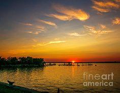 Sunset on the Delaware River - Pennsville NJ