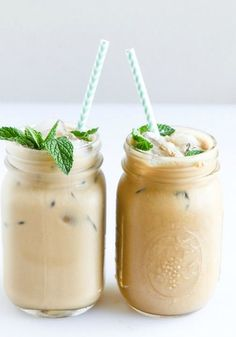 Freshly brewed Mint Iced Coffee from TOMS Roasting Co.