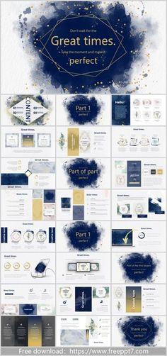 Ink art PowerPoint templates_Google Slides theme