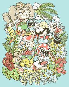 Super Mario/ Donkey Kong tattoo like drawing