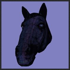 Life Size Horse Head Ver.2 Free Papercraft Download
