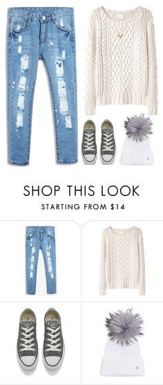 """""""r o a r"""" by wildfawn ❤ liked on Polyvore featuring Chicnova Fashion, Band of Outsiders, Converse, Bogner and Louis Vuitton"""