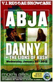 Lions of Kush flier #Abja, #Danny I#Moe's Alley #Santa Cruz reggae #Vi Reggae
