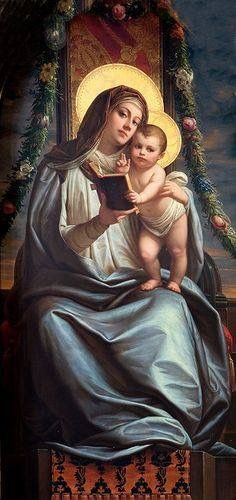 Our Lady holding the Divine Infant