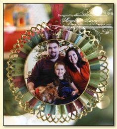 Photo Rosette Ornaments