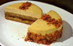 Une délicieuse recette d'automne : le craquant du Spéculoos, la douceur des pommes caramélisées et une délicate mousse au chocolat Dulcey.