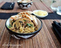 Three Mushroom Risotto {Via @Kyrstie Barcak - A Fresh Legacy}