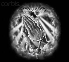 Tatoo Art, Arm Tattoo, Tattoo Drawings, Hand Tattoos, Sleeve Tattoos, Tatoos, Praying Hands With Rosary, Praying Hands Tattoo, Future Tattoos