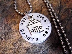 House Charm Necklace Housewarming Jewelry Family by CharmAccents, $22.00