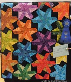 """Fiesta Stars, 36 x 42"""", made and quilted by Diane Ferrel"""