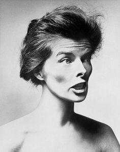 Katharine Hepburn photographed by Richard Avedon, 1955.