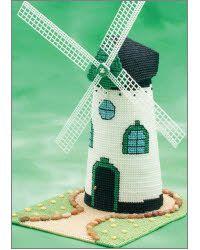 everything plastic canvas | Everything Plastic Canvas - Green Windmill