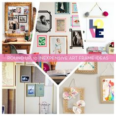 Roundup: 10 Inexpensive DIY Art & Picture Frame Ideas » Curbly | DIY Design Community