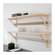 EKBY JÄRPEN / EKBY VALTER Seinähylly - koivuviilu - IKEA