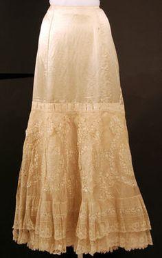 Natural lace Petticoat 1890s #steampunk #vintage