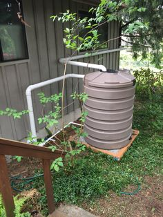 3 X 420 Gallon Tanks In West Seattle. Overflow To Side Sewer.  #rainwaterharvesting