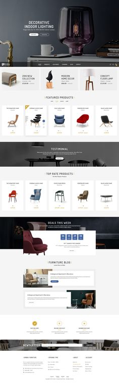 Umbra - Furniture & Interior PSD Template on Behance