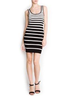 Mango Women's Striped Knit Dress,