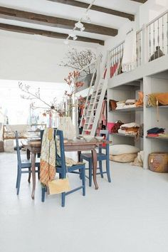 Storage perfection. I love this loft space~