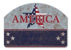 Magnet Works Yard DeSigns Yard Sign - America Design Address Plaque at GardenHouseFlags
