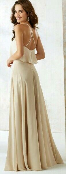 Satin Bridesmaids Dress with V-neck and Pockets | Pacheco January ...