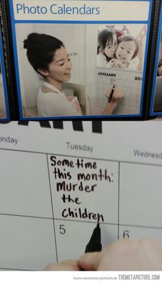 Shopping for photo calendars when suddenly…