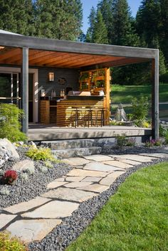 Outdoor living is made easy at Blog Cabin 2015, with space dedicated to grilling, dining and entertaining guests. From the experts at DIYNetwork.com.