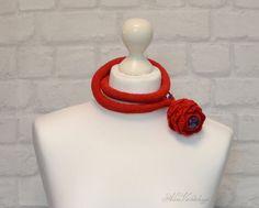 Verkauf Rote rose Schmuck Halskette Natursteine von AlisaSonya