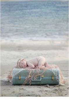 Burlington NC Newborn Pictures newborn beach picture