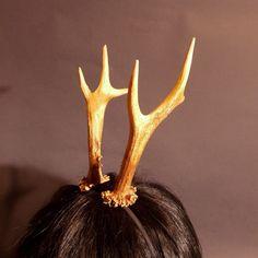 small deer faun horns by DwarfCaTcraft on Etsy, $25.00