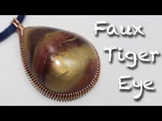 ▶ Faux Tiger's eye Stone - Polymer clay tutorial - YouTube