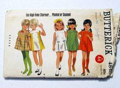 1970s Girls Dress Pattern 70s Girls Mod Dress A Line by WitNWhimzy, $8.00