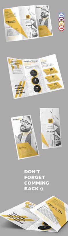 36 Best ideas for design brochure trifold leaflets Graphic Design Brochure, Brochure Layout, Brochure Template, Brochure Trifold, Flyer Template, Leaflet Layout, Leaflet Design, Web Design, Layout Design