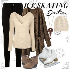 """""""Ice Skating Date"""" by bella-boo2002 on Polyvore"""